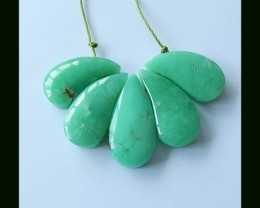 Fashion Natural Chrysoprase Cluster Pendant Beads,Pendant Beads Set ,72 Cts