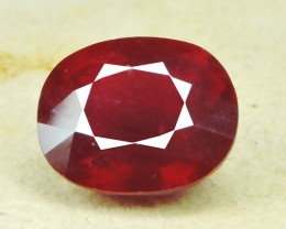 9.05~Ct Gorgeous! Jumbo! Oval Facet Top Blood Red Natural Ruby Madagascar!