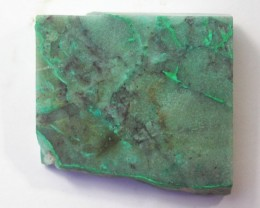 170.0 CTS CHRYSOCOLLA + MALACHITE ROUGH SLAB[F6203]
