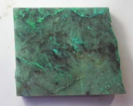 140.0 CTS CHRYSOCOLLA + MALACHITE ROUGH SLAB[F6205]