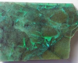 130.0 CTS CHRYSOCOLLA + MALACHITE ROUGH SLAB[F6210]