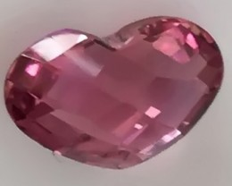 1.34ct RUBELLITE TOURMALINE HEART!