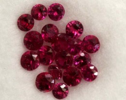 UNHEATED RUBY PARCEL  1.0 CTS   GC