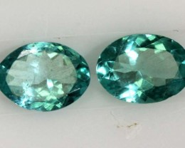 APATITE FACETED GEMSTONE PAIR 1.15 CTS TBG-2121