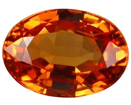 PERFECT GEM ALLURING EXTREME FIRE HOT RICH ORANGE SAPPHIRE