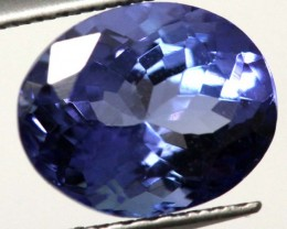 CERTIFIED TANZANITE FACETED STONE 2.33  CTS TBM-626  GC