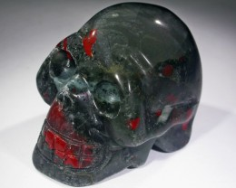 JASPER BLOOD STAIN FACE GEMSTONE SKULL BU254