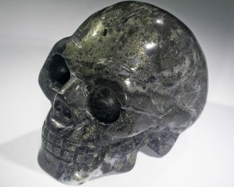 JASPER METALLIC  GOLD  GEMSTONE SKULL BU261