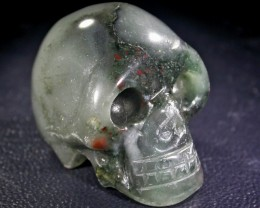 JASPER BLOOD STAIN ON FACE GEMSTONE SKULL BU267