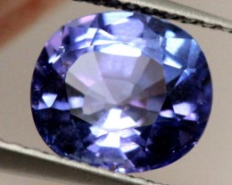 CERTIFIED TANZANITE FACETED 1.96   CTS TBM-593 GC