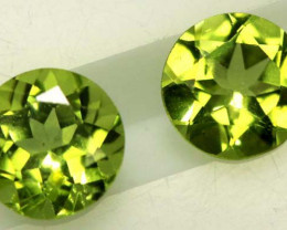 PERIDOT BRIGHT GREEN PAIR (2 PCS) 1.65 CTS CG-1943