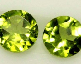 1.65 CTS  PERIDOT BRIGHT GREEN  PAIR (2 PCS) CG-1944
