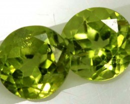 1.85 CTS PERIDOT BRIGHT GREEN PAIR (2 PCS)  CG-1945
