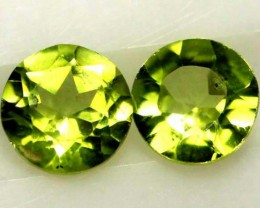1.85 CTS PERIDOT BRIGHT GREEN PAIR (2 PCS) CG-1946