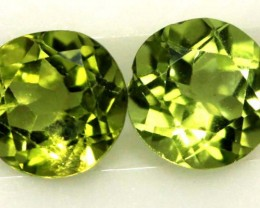 1.80 CTS  PERIDOT BRIGHT GREEN PAIR (2 PCS) CG-1948