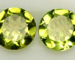 1.60 CTS PERIDOT BRIGHT GREEN  PAIR (2 PCS) CG-1950