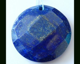 Hot Fashion!Faceted Natural Lapis Lazuli Bead,100% Handmade Necklace Pendan