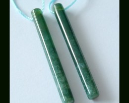 Long Moss Agate Earring Beads Stick Earring Beads,20.55 Ct
