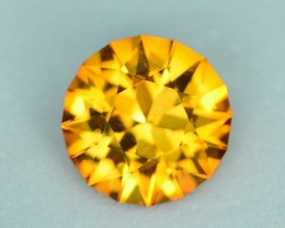0.83 CT CITRINE CUSTOM CUT - AMAZING COLOR AND LUSTER!