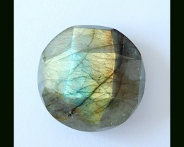Faceted  Labradorite Cabochon,46.6 Cts