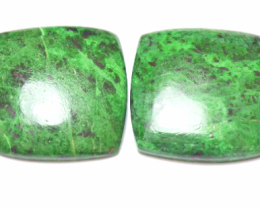 Maw sit sit emerald green jade cushion shape cabochon