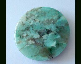 Natural Chrysocolla Round Pendant Bead,198 Cts