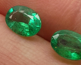 Beautiful 1.54tcw All Natural Colombian Emerald Untreated!