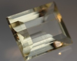 4.86 CT SCAPOLITE EMERALD CUT GOLDEN YELLOW