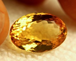 15.07 Carat VVS South American Citrine