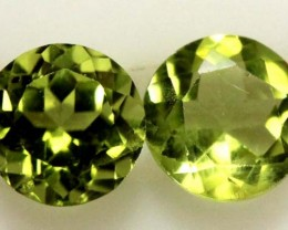 PERIDOT BRIGHT GREEN PAIR (2 PCS) 1.65 CTS CG-1961
