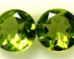 1.55 CTS PERIDOT BRIGHT GREEN PAIR (2 PCS)  CG-1964
