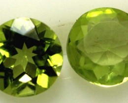 1.55 CTS PERIDOT BRIGHT GREEN PARCEL (2 PCS)  CG-1966
