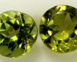 1.70 CTS PERIDOT BRIGHT GREEN PARCEL (2 PCS)  CG-1968
