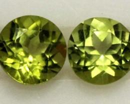 PERIDOT BRIGHT GREEN PARCEL (2 PCS) 1.95 CTS CG-1970