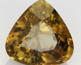 10.73 CTS CERTIFIED LARGE  CANARY YELLOW ZIRCON - SRI LANKA  [SCZ1]