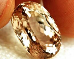 28.05 Carat VVS1 Himalayan Peach Triphane - Gorgeous