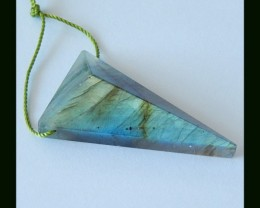 Fashion Triangle Labradorite Natural Semiprecious STone Pendant Bead,33 Cts