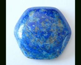 Hexagon Natural Lapis Lazuli Cabochon,64 Cts