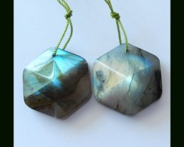 Faceted Labradorite Earring Beads,64.5 Cts