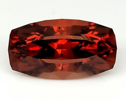 1.25 CT MALAYA GARNET UNTREATED! MASTER PRECISION CUT!