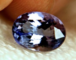 GIA CERTIFIED - 3.99 Carat IF/VVS1 Purple / Blue African Tanzanite