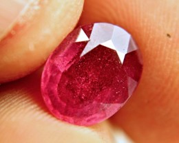 3.80 Carat Fiery Red Ruby - Lovely