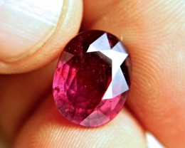 8.71 Carat Fiery Pigeon Blood Ruby