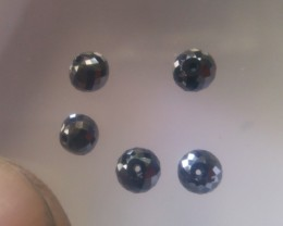 NAT BLACK DIAMOND-ROUND BALL SHAPE-APP0.29 CTWSIZE-5PCS