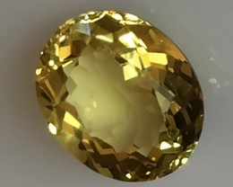 3.26ct YELLOW BERYL FULL OF GLITTER! STRONG COLOR