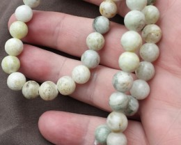 NATURAL JASPER BEAD STRAND 15 INCH LENGTH ROUND CUT BEADS