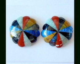 Colorful Gemstone Intarsia For Earring Design!!Gemstone Decoration Cabochon