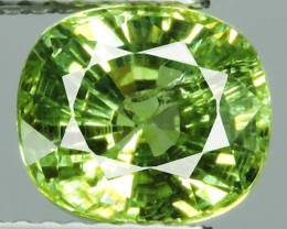 certified'2.54 CT NATURAL EARTH MINED RARE HUGE MINT GREEN TSAVORITE GARNET