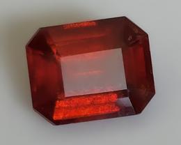 A SULTRY RED ORANGE HESSONITE GARNET