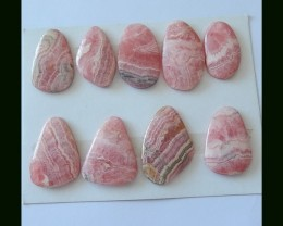 9 Pcs Natural Rhodochrosite Freeform Cabochons,219 Cts